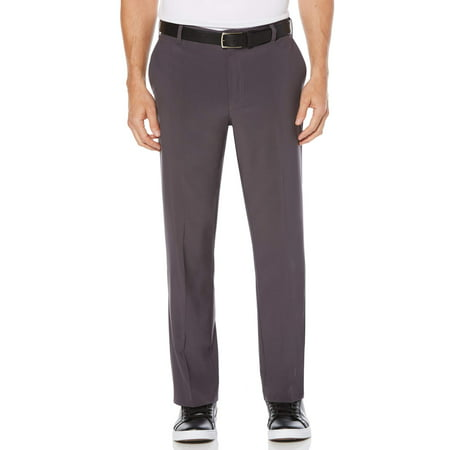 Ben Hogan Men's Performance Active Flex Waistband Four Way Stretch Flat Front (Adidas Golf Mens Climalite 3 Stripes Pant)