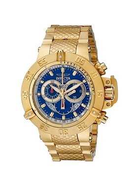 Invicta Men's 5404 Subaqua Noma III Chronograph Blue Dial Gold Plated Steel Dive Watch