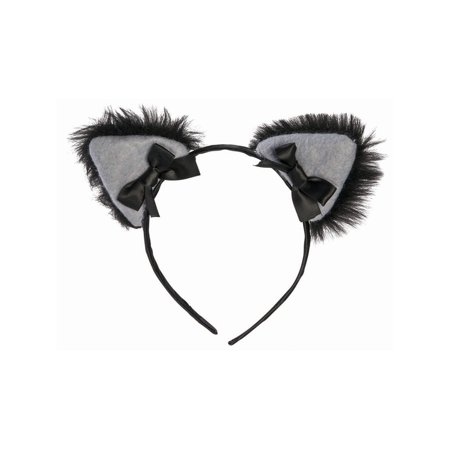 Halloween Black Cat Furry Cat Ears Headband](Cats Ears Halloween)