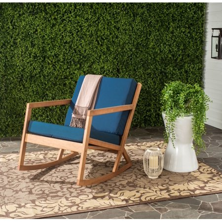 Safavieh Vernon Indoor/Outdoor Modern Rocking Chair with Cushion