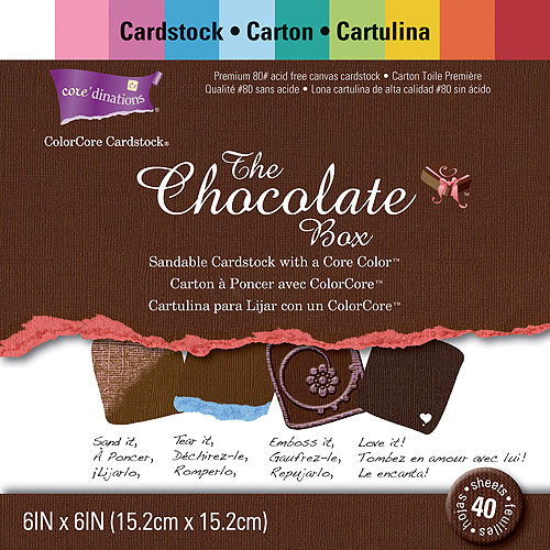 """Core'dinations Chocolate Box Cardstock pack, 6"""" x 6"""""""