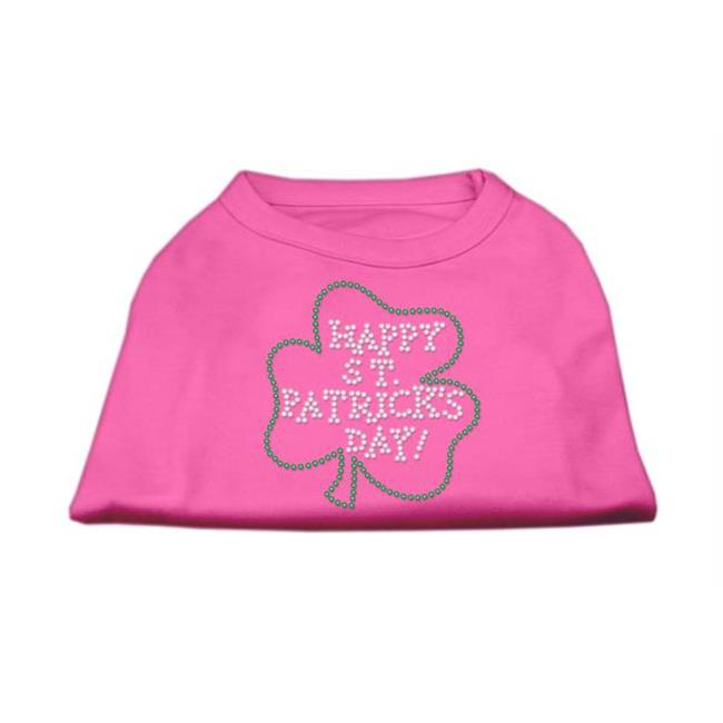Happy St. Patrick's Day Rhinestone Shirts Bright Pink Xxl (18) - image 1 de 1