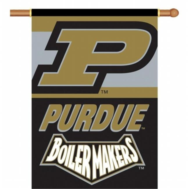 Bsi Products 96133 Purdue Boilermakers - 2 Sided 28 x 40 inch Banner With Pole Sleeve