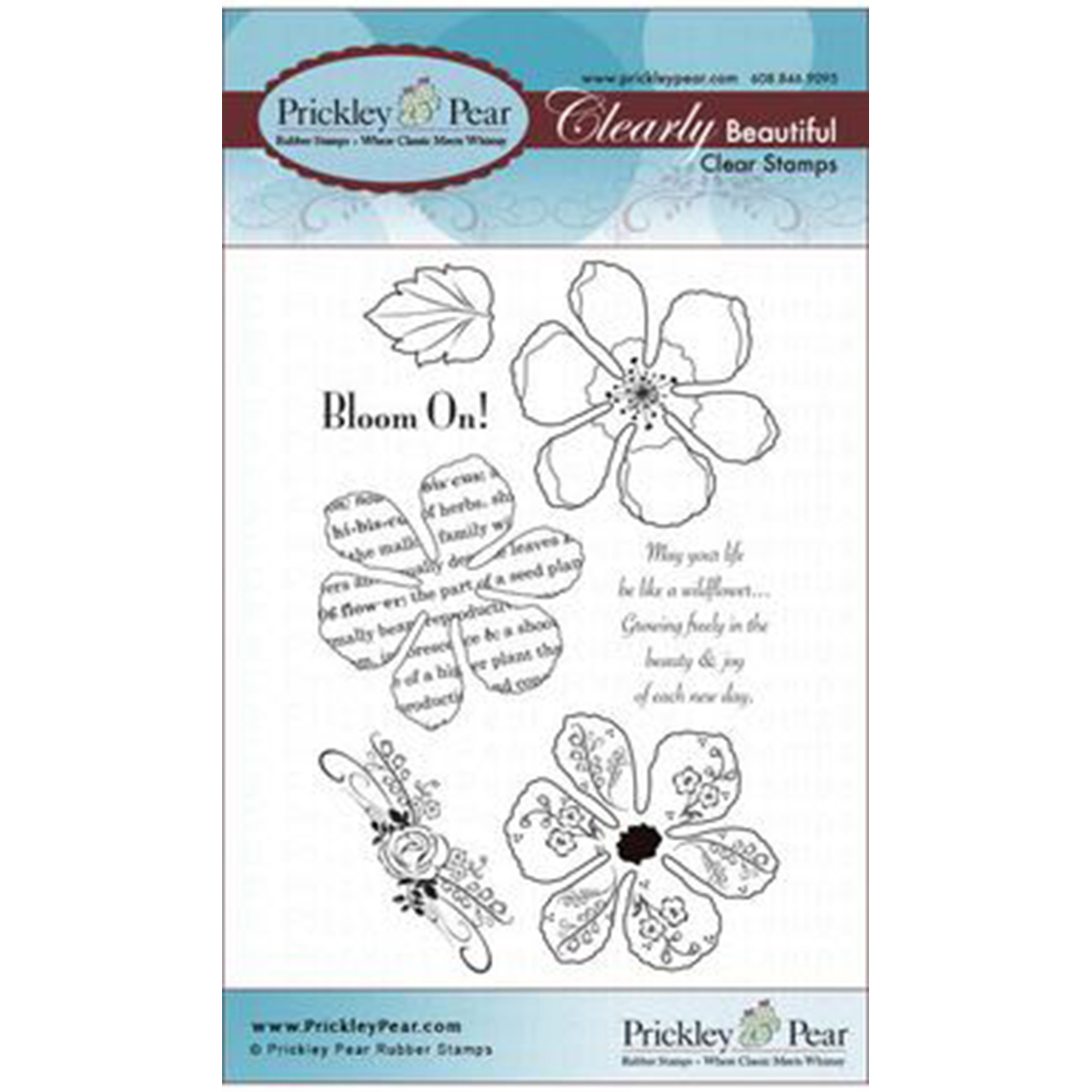 Prickley Pear Rubber Stamp Set-Hibiscus