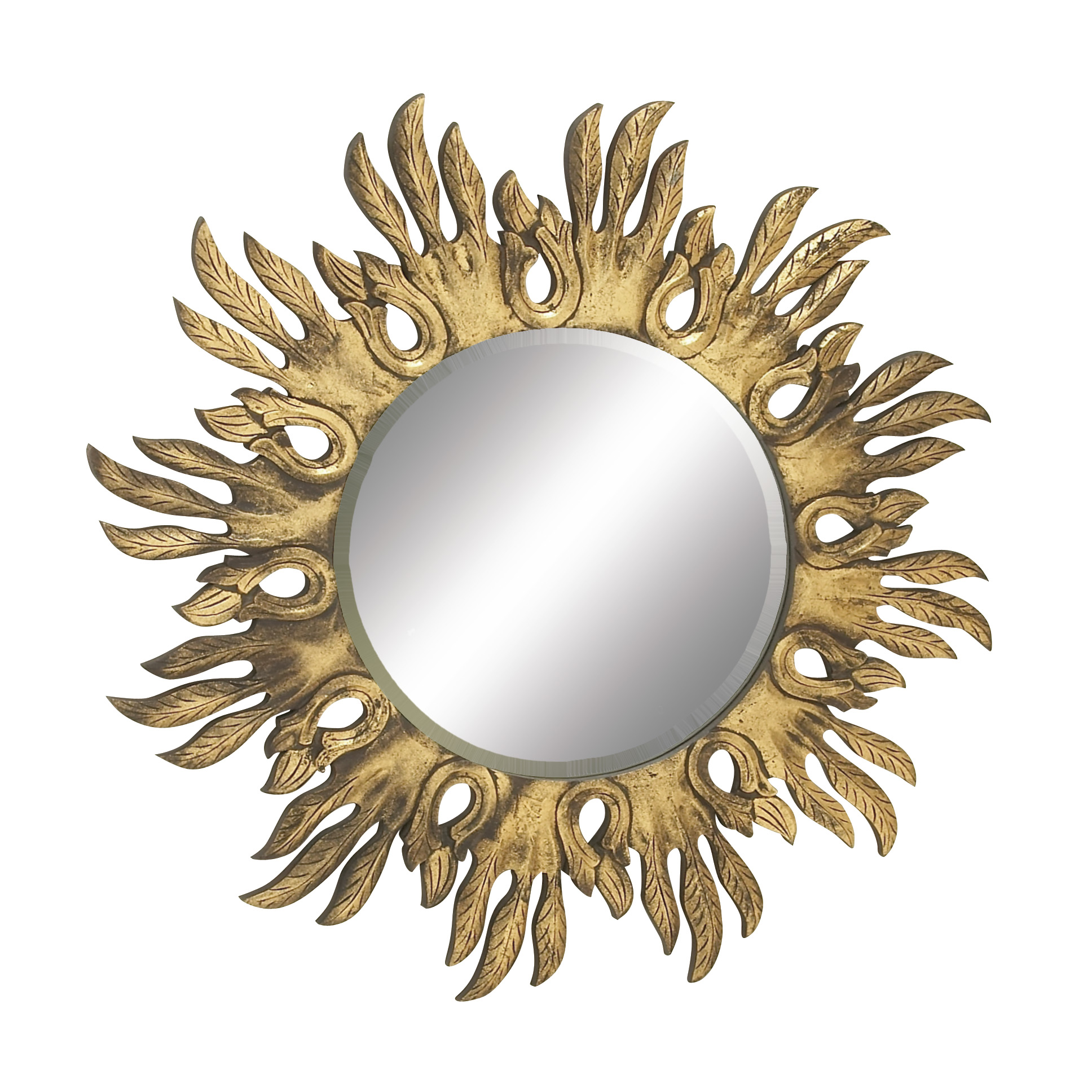 Woodland Imports Shimmering Carved Wall Mirror