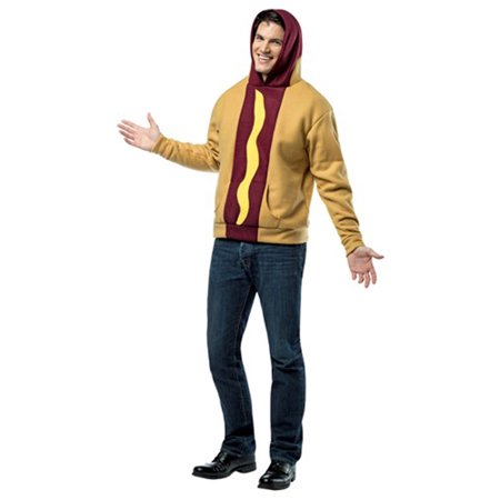 Hot Dog Hoodie Adult Costume