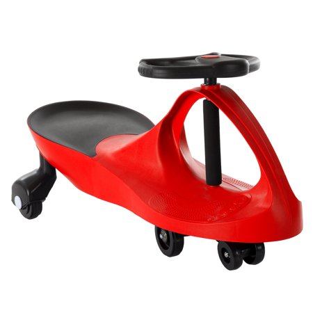 Ride On Car, No Batteries, Gears or Pedals, Uses Twist, Turn, Wiggle Movement to Steer Zigzag Car (Multiple Colors) for Toddlers, Kids, 2 Years Old and Up
