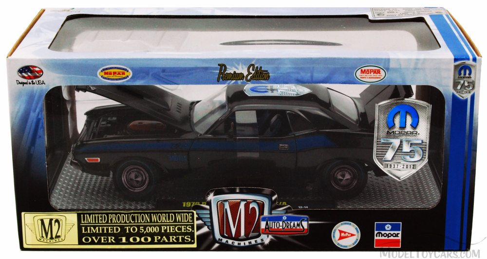 1970 Dodge Challenger T/A Hard Top MOPAR 75th Anniversary, Black - Castline  M2 Machines Auto - Dreams 40300/36B01 - 1/24 scale diecast model car