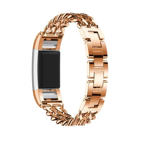 StrapsCo Sangle de Bracelet de Montre en Chaînons en Alliage pour Fitbit Charge 2 - image 3 de 4