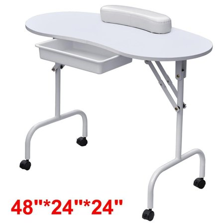 Yaheetech portable foldable manicure table nail for Portable manicure table nail technician workstation