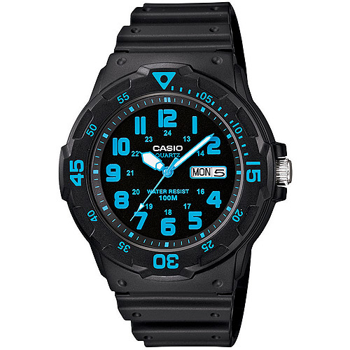 Casio Men's Sport Analog Blue-Accented Dive Watch