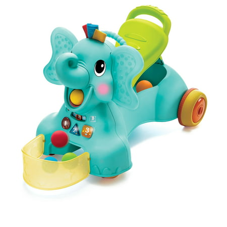 Ollie 3-in-1 Sit, Walk & Ride Elephant