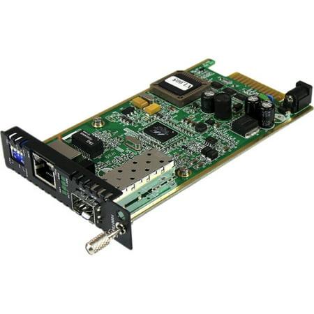 StarTech Gigabit Ethernet Fiber Media Converter Card Module with Open SFP Slot