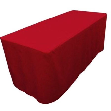 8 Feet Tablecloth Red Fitted Tablecloth Polyester Table Cover Trade Show Banquet Red, : Add $49.00 or more items offered by.., By Tablecloth Market