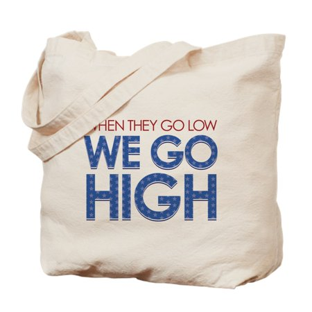 CafePress - They Go Low, We Go High - Natural Canvas Tote Bag, Cloth Shopping Bag](Go Low Shop)