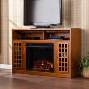 Akita Media Electric Fireplace-Glazed Pine