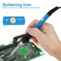 YLSHRF 60W Electric Soldering Iron Adjustable Temp Hand Tool Kit with Switch On/Off Button ,Soldering Iron, Electric Soldering Iron