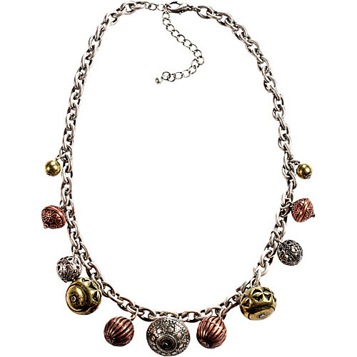 Alexa Starr Burnished Silver Chain Necklace