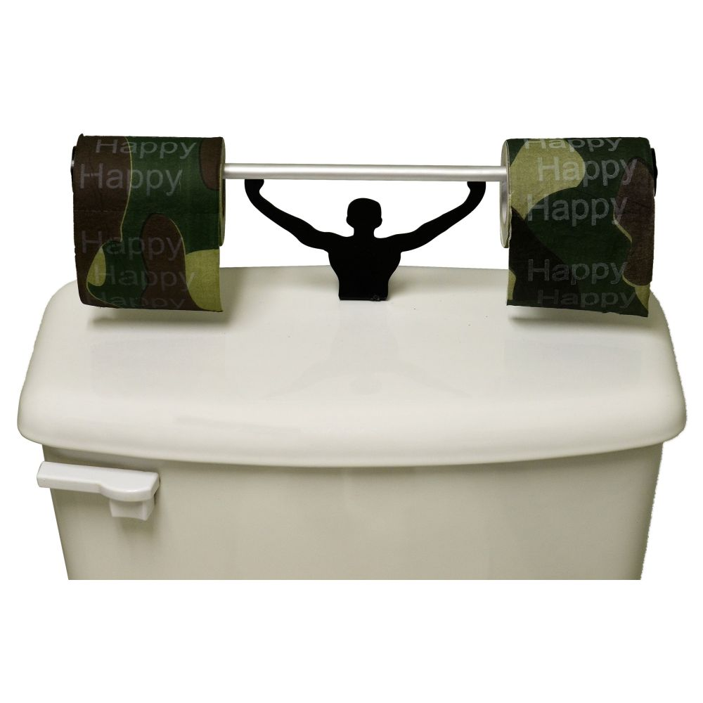 Happy Happy Happy Toilet Paper W/ Strong Man Holder Gift Set