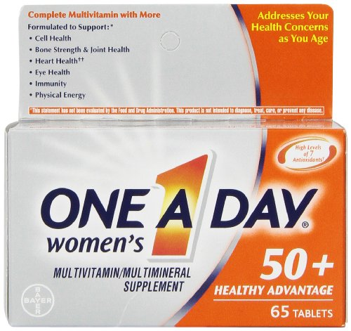 5 Pack - One A Day Women's 50+ Advantage Multivitamins, 65 Each
