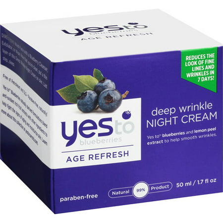 Yes To Blueberries Age Refresh Deep Wrinkle Night Cream, 1.7 Oz