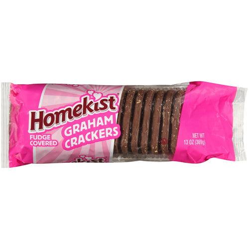 Homekist Fudge Covered Graham Crackers, 13 oz