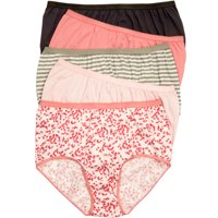 Plus Size 10-pack Pure Cotton Full-cut Brief By Comfort Choice