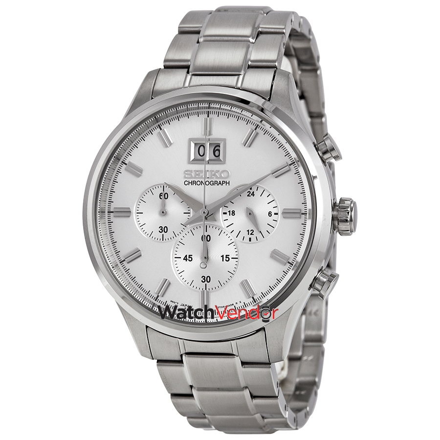 Seiko Chronograph Silver Dial Stainless Steel Men's Watch SPC079 - image 4 of 4
