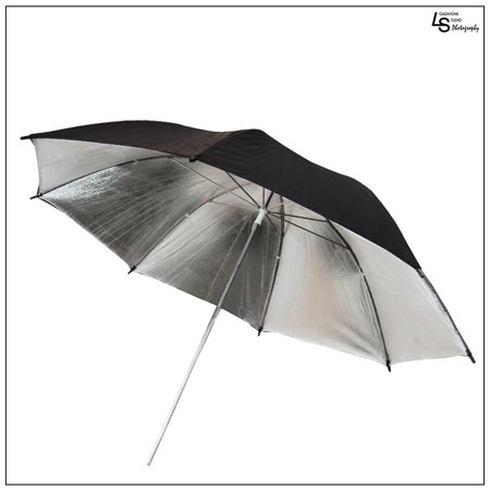 Offer 40″ Professional Black & Silver Reflective Umbrella with 8mm Shaft for Photography and Video Lighting by Loadstone Studio WMLS0681 Before Special Offer Ends