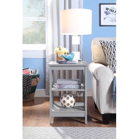 Mission Style Side Table - Convenience Concepts Mission End Table