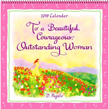 2019 To a Courageous Woman Wall Calendar, by Blue Mountain Arts ()