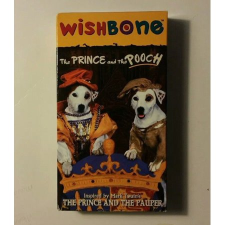 Wishbone - The Prince and the Pooch (VHS, 1996, PBS Kids) ships in 24 hrs teste