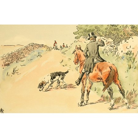 Rev John Russell 1902 Dog finds a hare Canvas Art - NHJ Baird (18 x 24)