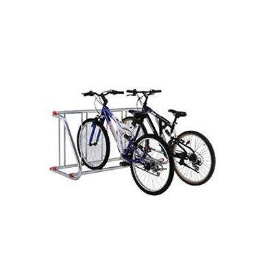 Grid Bike Rack, Single Sided, Powder Coated Galvanized Steel, 5-Bike Capacity