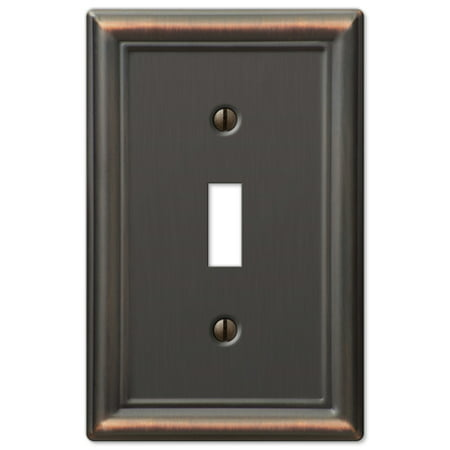 Single Toggle 1-Gang Decora Wall Switch Plate, Oil Rubbed (1 Toggle Decora Wall Plate)