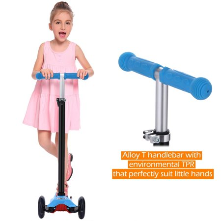 Kids Three Wheel Scooters (3 Wheel Kick Scooter for Kids Boys Girls Adjustable Height Aluminum Alloy )