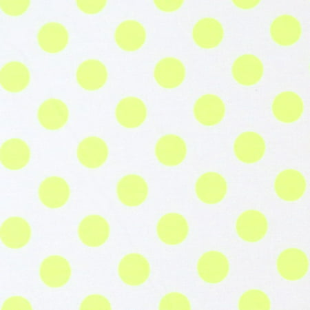 Sheetworld Fitted Pack N Play  Graco  Sheet   Neon Yellow Polka Dots