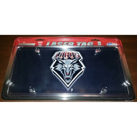 New Mexico Lobos Silver Laser Plate - image 1 de 1