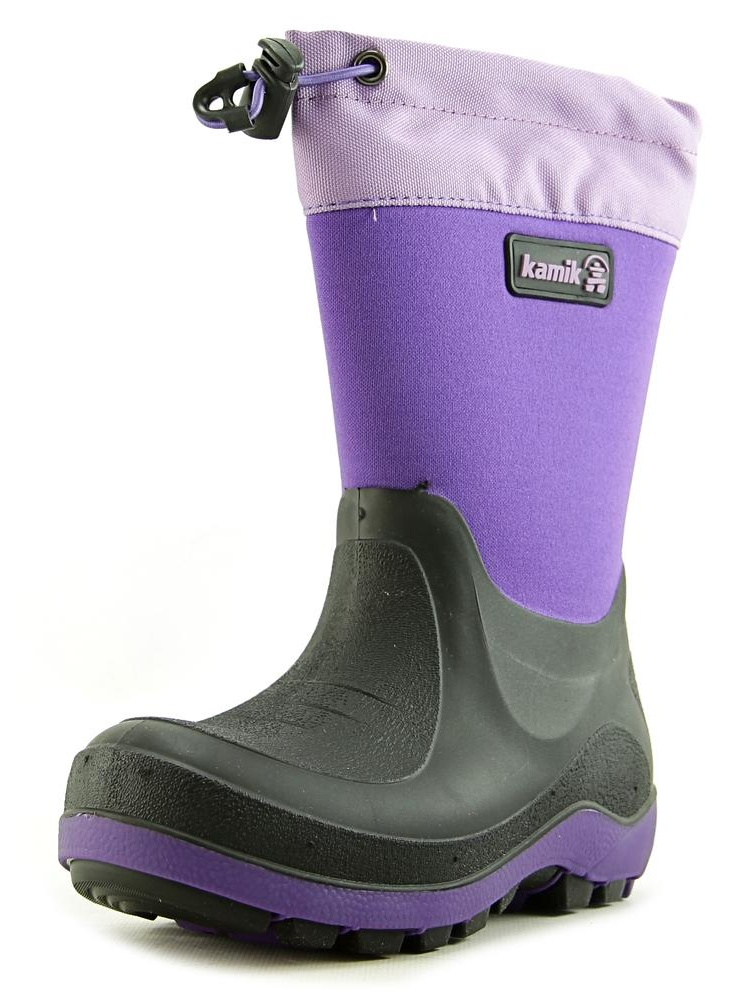 Stormin 2 Youth Round Toe Synthetic Purple Winter Boot