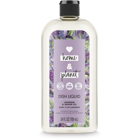 Love Home and Planet Dish Soap Lavender & Argan Oil 24
