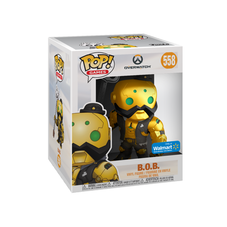 Funko POP! Games: Overwatch - 6u0022 B.O.B. Metallic Gold - Walmart Exclusive