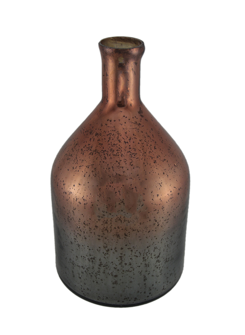 Decorative Copper Mercury Glass Poison Bottle 13 inch by INDIA HOUSE BRASS, INC.