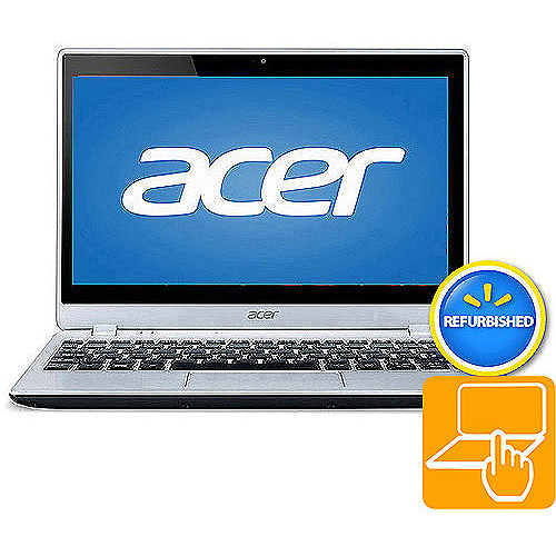 """Acer Refurbished Chill Silver 11.6"""" V5-122P-0864 Laptop PC with AMD A4-1250 Processor, 4GB Memory, Touchscreen, 500GB Hard Drive and Windows 8"""