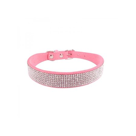 Lavaport Small Female Dog Bling Rhinestones Collar-0.6