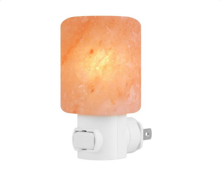 Zimtown Natural Crystal Himalayan Salt Lamp Novelty Night Lights Pink Salt Lamp In Wall Light Glow Hand Carved,... by