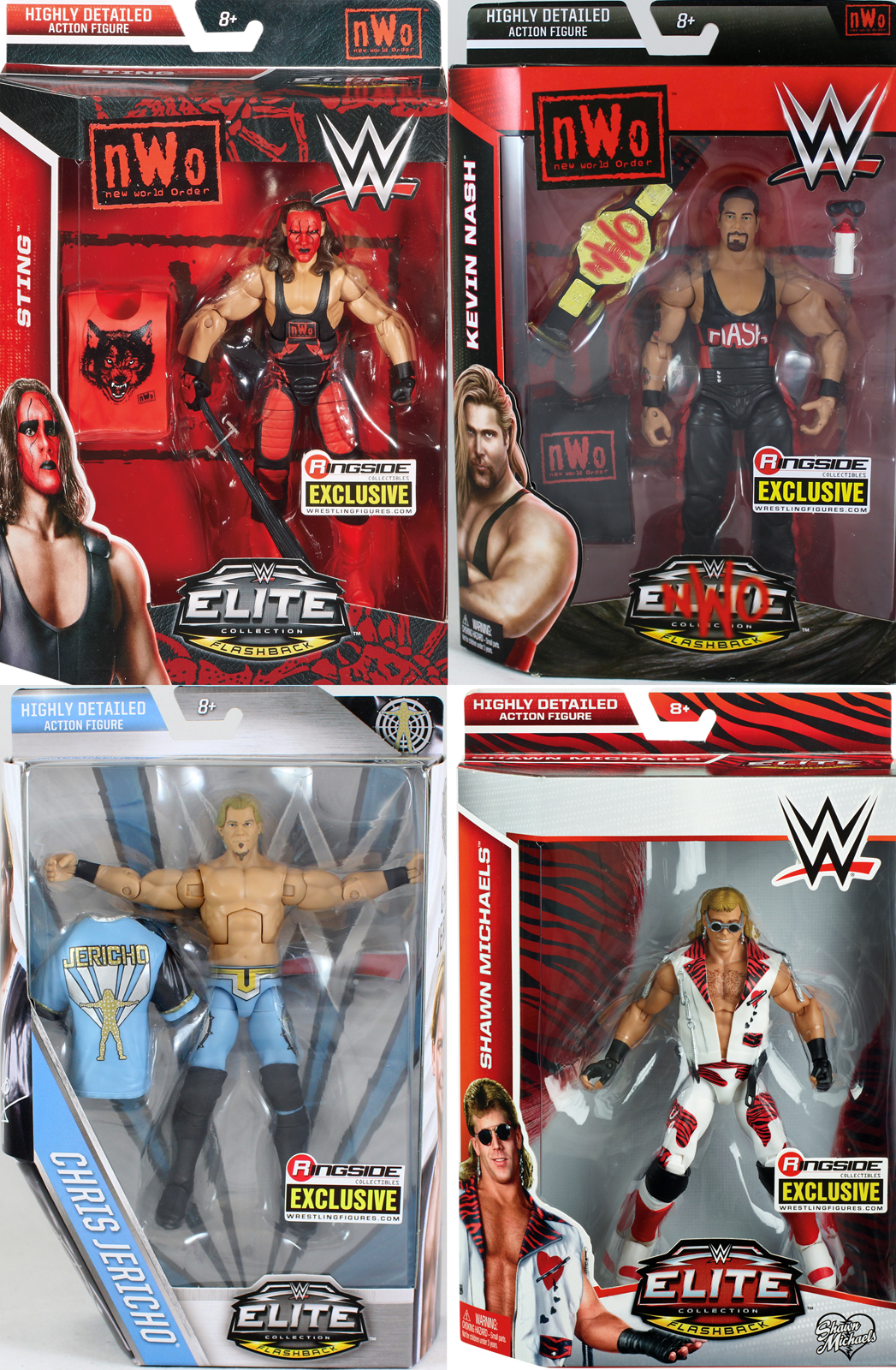 Package Deal Exclusives (NWO Sting, NWO Kevin Nash, Y2J Chris Jericho & HBK Shawn... by