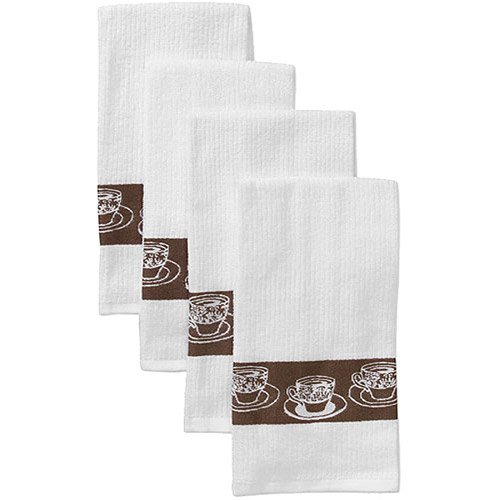 Better Homes and Gardens Kitchen Towel Set, Coffee Border