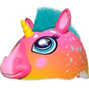 Raskullz Super Rainbow Unicorn Hair Bike Helmet, Child 5+ (50-54cm)