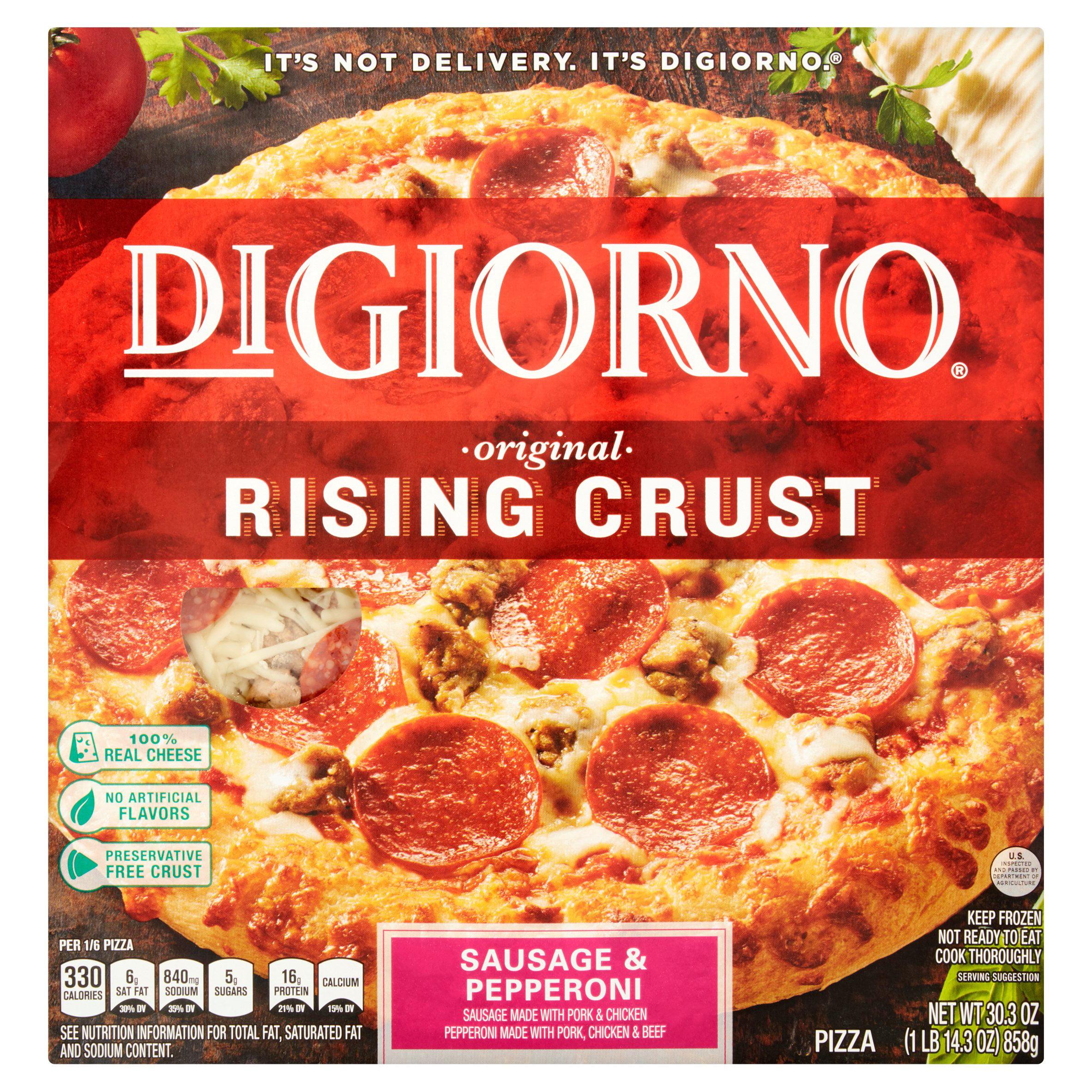 DIGIORNO Rising Crust Sausage & Pepperoni Pizza 30.3 oz. Box