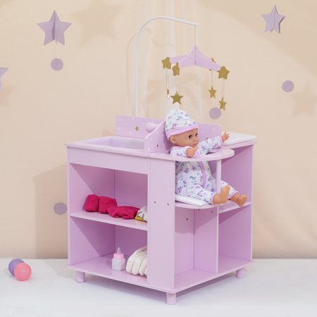 Olivia's Little World - Twinkle Stars Princess Baby Doll Changing Station with Storage